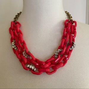 J. Crew lucite/rhinestone link necklace